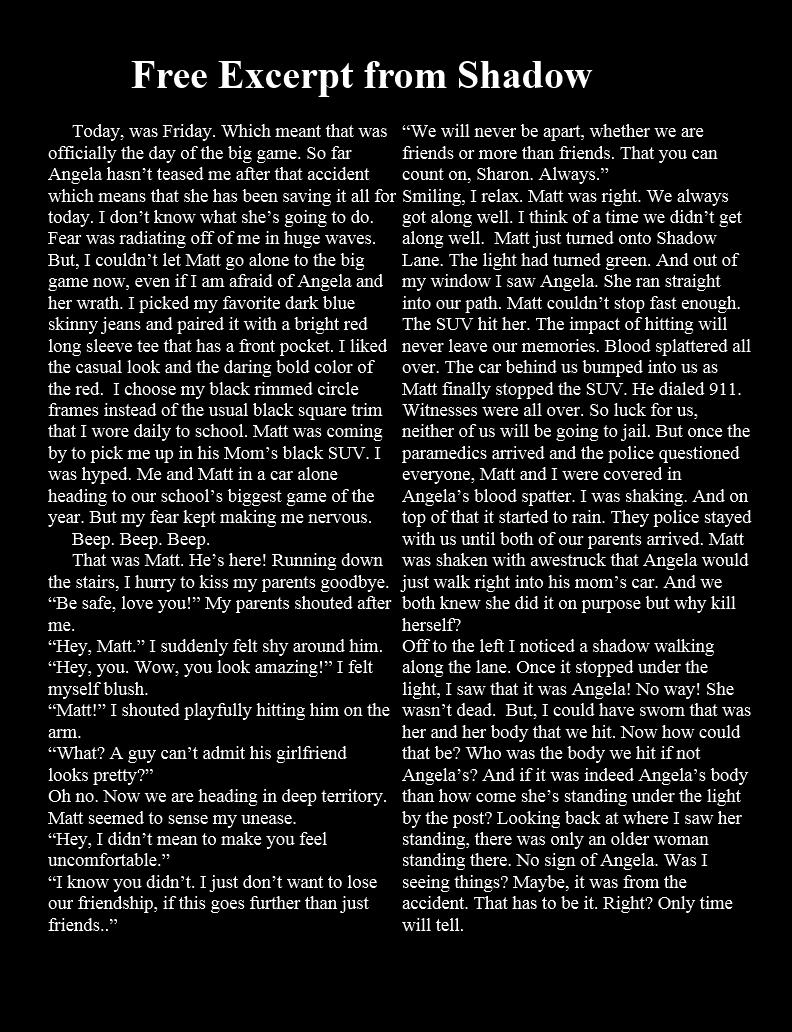Excerpt - Shadow Lane